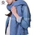 2016 Winter New Fashion women European Scarf tassel shawl blue beige Brand big shawls Female Scarfs women scarves ladies wraps