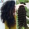 7A Brazilian Deep Wave Virgin Hair 100% Brazilian Human Hair Weave 4 Bundle Deals Cheap Brazilian Curly Virgin Hair Extensions