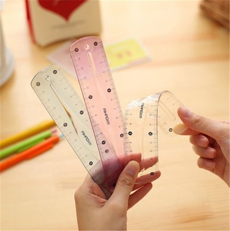 700 Pcs Stationery 7514 Tape Measure Double Faced 15cm Calibration Ruler