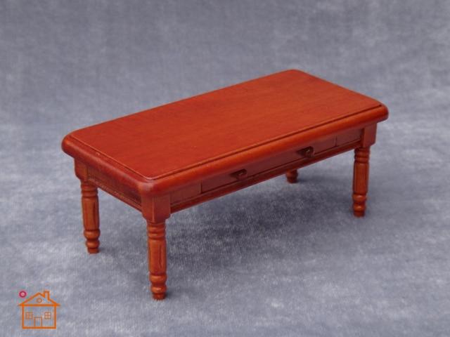 1 12 Diy Handmade Dollhouse Mini Table Furniture With Drawers Coffee