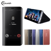 Asuwish Smart Flip Cover Leather Case For Huawei Mate 9 Pro 5 9 Mate 9 5