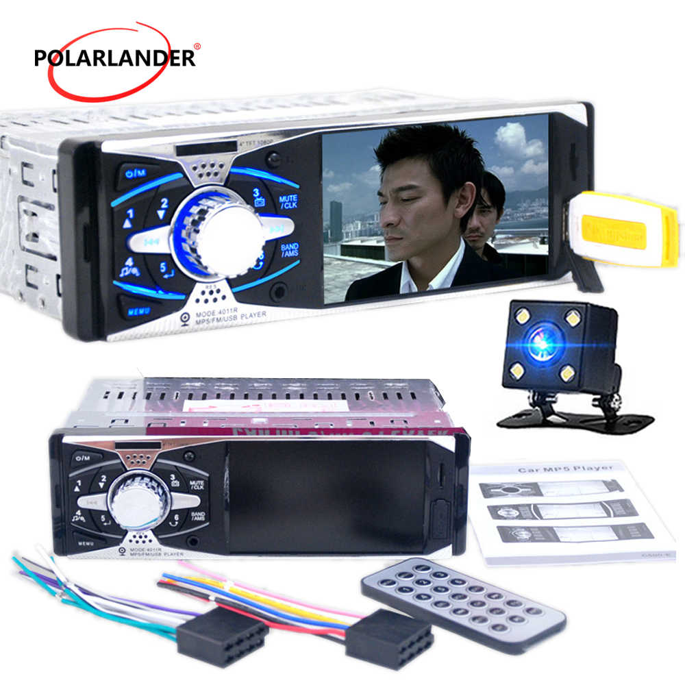 "Autoradio วิทยุ cassette player 1Din In-Dash MP3/MP5/วิทยุ FM รถ 12V 4.1"" TFT กล้อง HD สำหรับ Android รถวิทยุเทป"