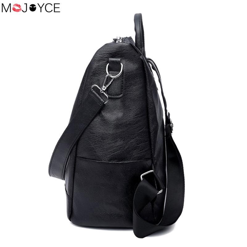 Leather Backpack Mochila Women Big Zipper Backpack Student Bag Backpack Female Large Casual Travel Bags Mochila Feminina Sac #4