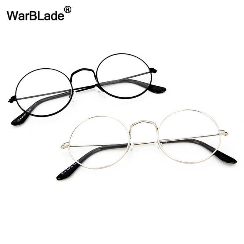 cb0176ad6d WarBLade Retro Gold Round Clear Glasses Frame Women Eye Glasses Fashion Transparent  Nerd Myopia Optical Korean