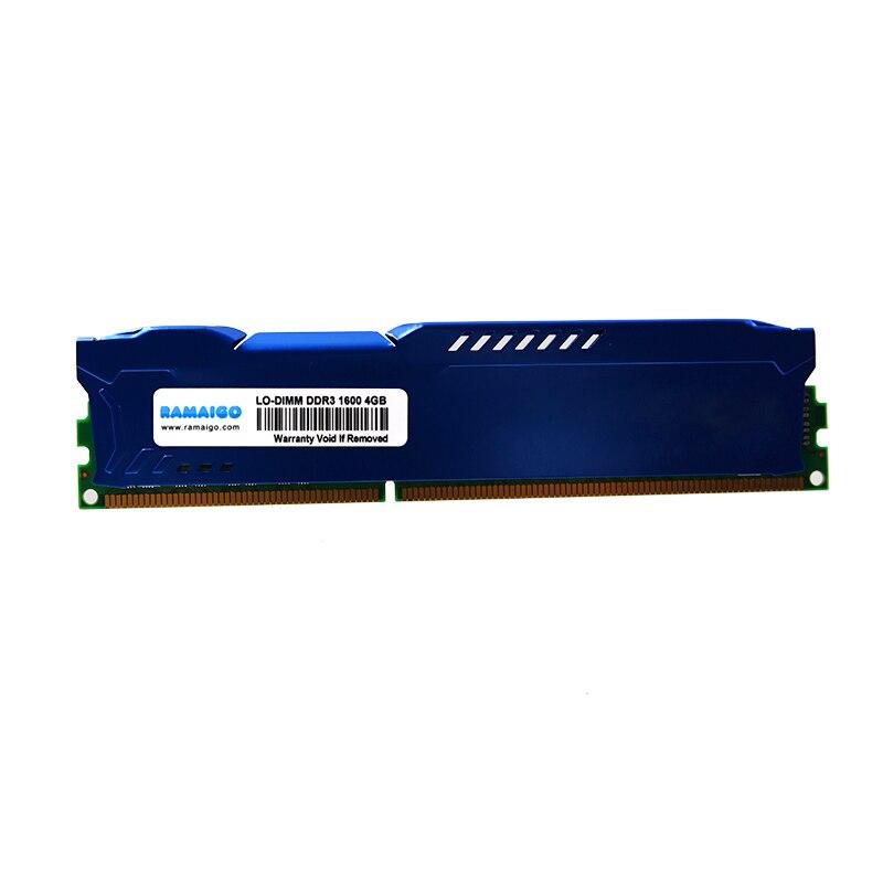 RAMAIGO DDR3 RAM memoria LODIMM DDR3 2 GB 2 GB 4 GB 8 GB 16 GB 32 GB 64 GB 1333 MHz 1600 MHZ PC de escritorio memoria 240pin 1,5 V hiper con de aleta de refrigeración