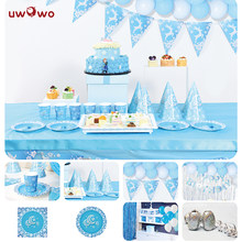 UWOWO Ice Princess Birth Party Decoration Full Set Party Game Play Movie Cosplay Princess Birthday Party Gift for Girl(China)