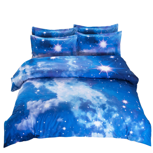 3d unicorn galaxy bedding set universe outer space themed for Space unicorn fabric