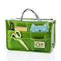 Maquillaje cosmético del bolso casos organizador de Nylon resistente al agua doble cremallera de maquillaje bolsa bolsillos viajes multifuncional bolso 2015