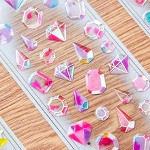 Transparent Crystal diamond Decorative Sticker Cute Cat DIY Diary Album Scrapbooking Label Stickers Stationery school supplies(China)