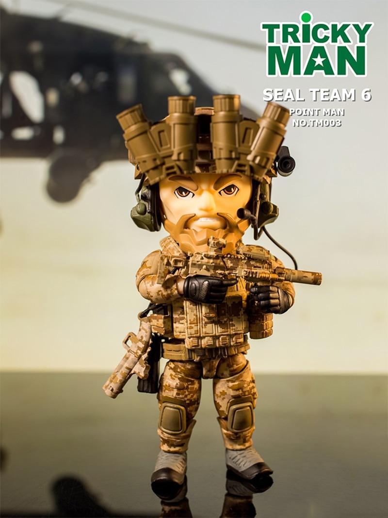 """13 CM 5 """"العسكرية عمل الشكل TM004 ترتفع الطيار الشكل دمية TM003 Trickyman ختم فريق 6 Pointman الرامي الشكل جمع-في شخصيات دمى وحركة من الألعاب والهوايات على  مجموعة 1"""