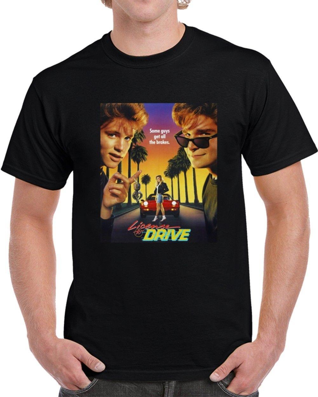 Gildan License To Drive Corey Feldman Haim Cool 80s Movie Fan T Shirt