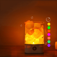 USB Crystal Salt Lamp Natural Himalayan Salt Lamp Air Purifier With 7 Color Change LED Night Light Table Desk Lamp Lava Lamp