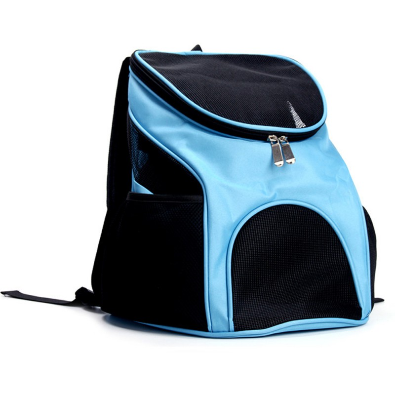 Portable Breathable Grid Bag Pet Bag Out Carrying Bag Breathable Mesh Carrier Backpack For Small And Medium Dogs