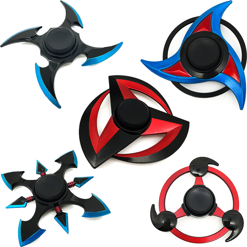 2019 New listing Anime Naruto Cosplay Props Alloy Model Finger creative Hand Spinner Halloween Toys Free Delivery