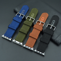 Watch Band For Apple Series 1 2 Woven Nylon Band Fabric Like Feel Strap For IWatch