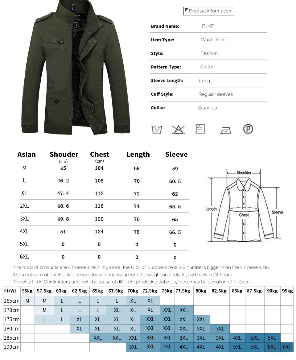 Coat Male Jacket Slim Fit High Quality