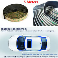 5 Meter Waterproof Rubber Car Rubber Sealing Strips Trim For Car Front Rear Windshield Sunroof