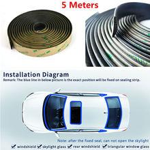 5 Meter Waterproof Rubber Car Rubber Sealing Strips Trim for Car Front Rear Windshield Sunroof цена 2017