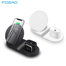 FDGAO 3 in 1 Qi Wireless Charger for Apple Watch 2 iPhone X XS Max XR Desktop Fast Charging For Airpods Samsung S9 S8