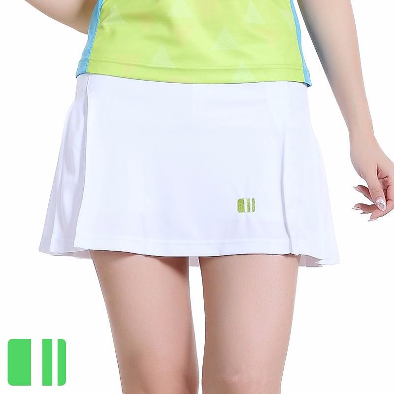 2016 Sports Thin Skirts Girl Pleated Short Skirt Women\'s Half-length Tennis Ball Culottes Badminton Skort with shorts leggings