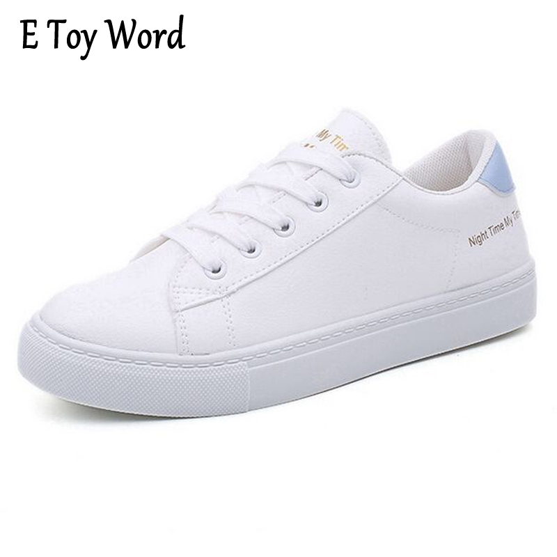 E TOY WORD Spring Autumn New Women's Shoes White sapatilha Women Breathable Casual Shoes flat With zapatillas mujer casual segal business writing using word processing ibm wordstar edition pr only