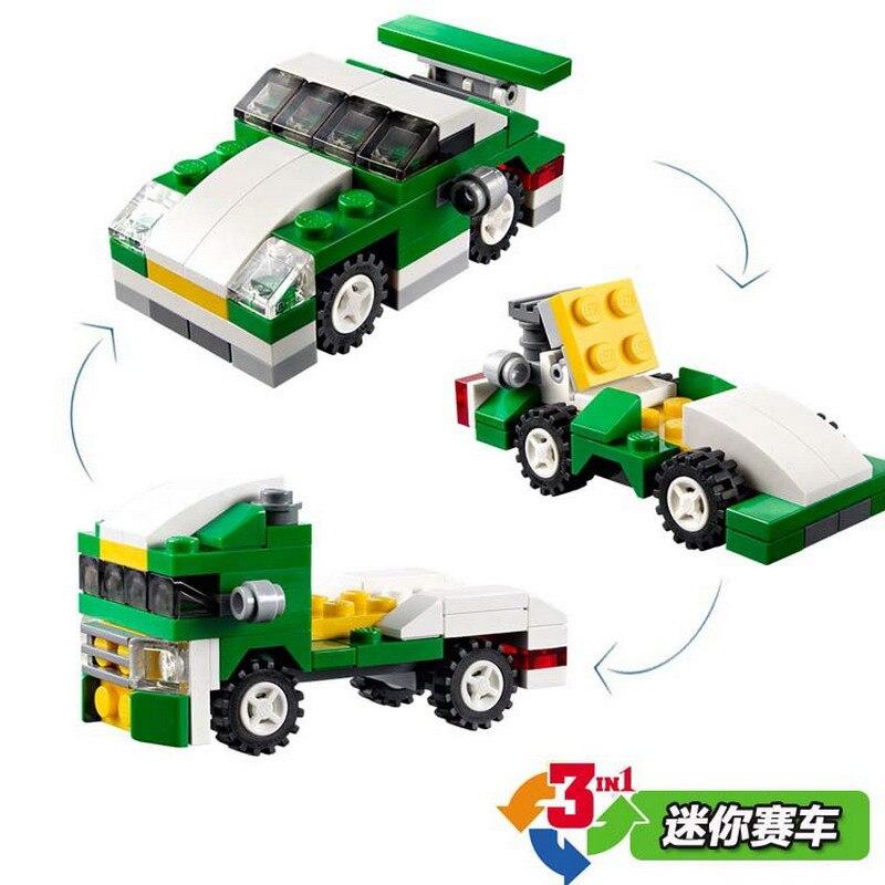 Decool город Творец 3 в 1 Мини skyflyer Пожарная служба Speeder Спорт Модель автомобиля строительный Блоки Игрушечные лошадки для детей Совместимые legoe
