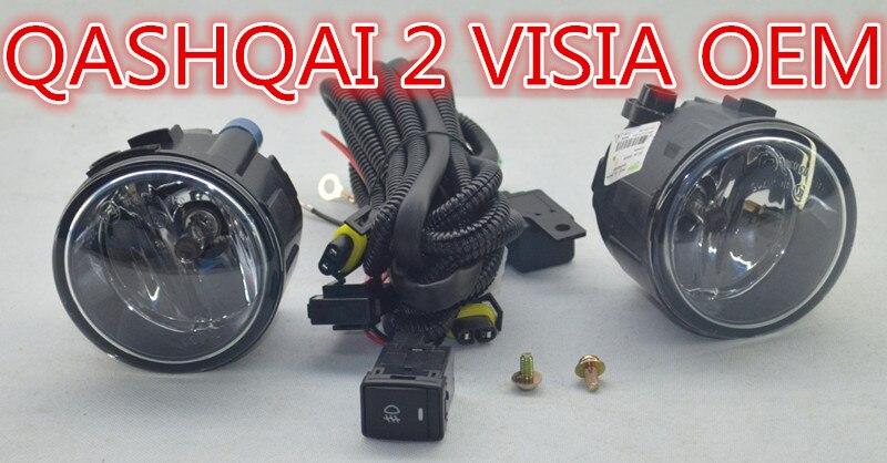 OEM Fog font b Light b font Lamps Harness Switch Kit for Nissan QASHQAI 2 VISIA