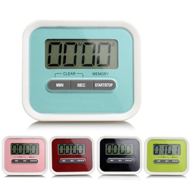 Timer Kitchen Cooking 99 Minute Digital LCD Alarm Clock Medication