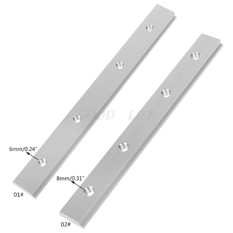 M6 M8 200mm Slide Slab T Track Slot For T-slot Miter Track Fixture Slot Router Table Woodworking Tools