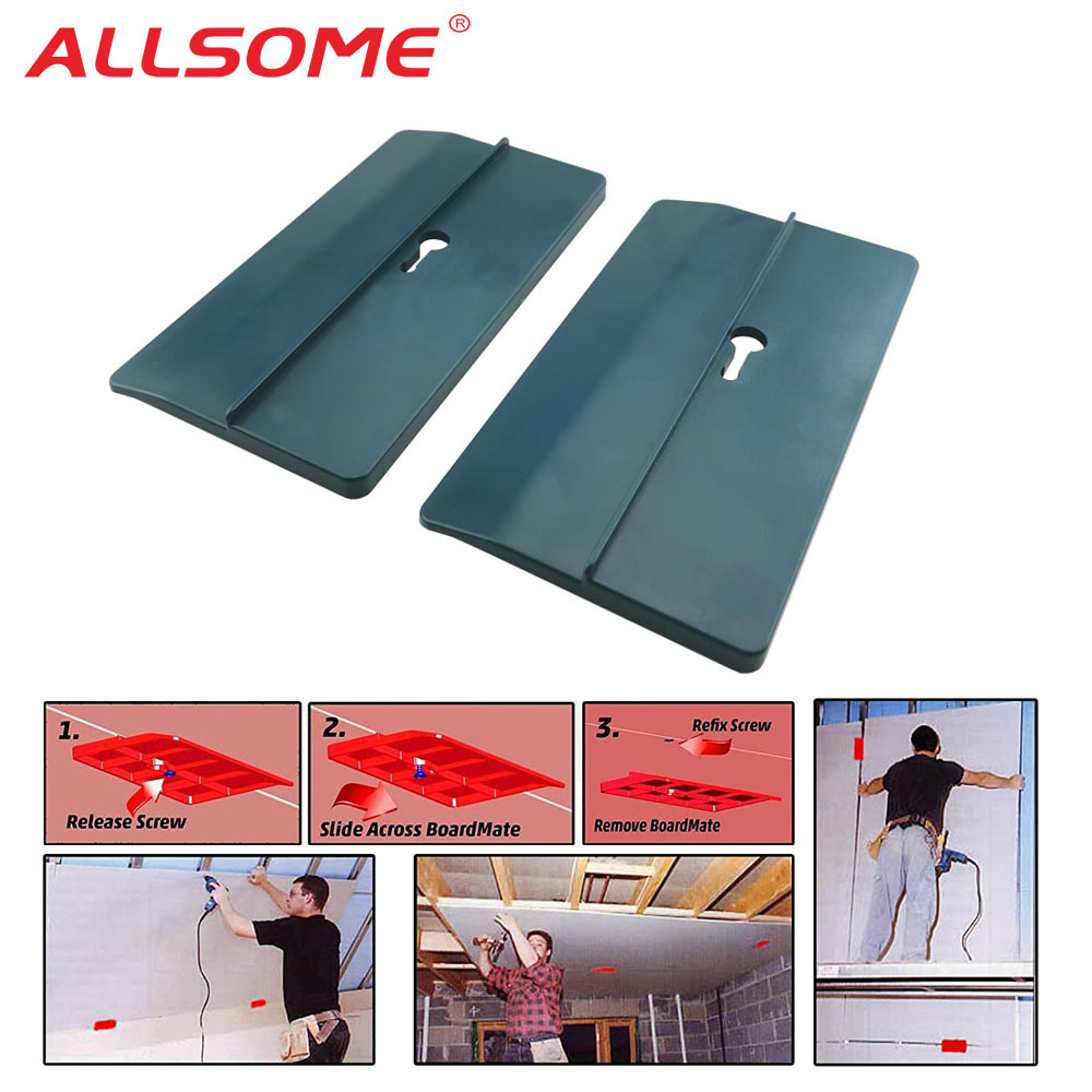 ALLSOME 2PCS Drywall Fitting Tool Plasterboard Fixing Tool Room Ceiling Sloped Walls Decoration Carpenter Tools HT2698