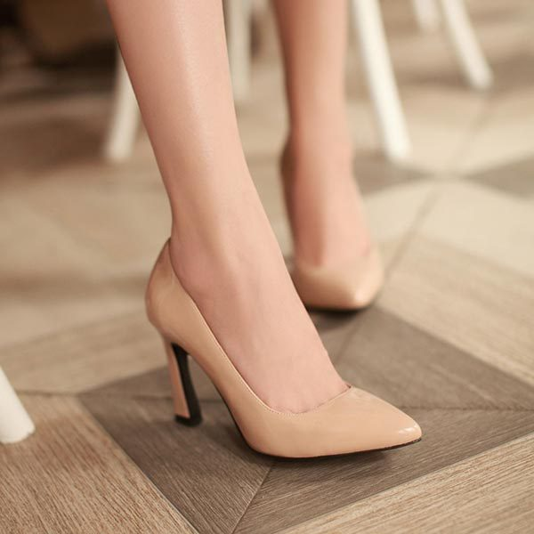 9 cm Heels Nude color Fashion Pointed Toe Women Shoes High Heels