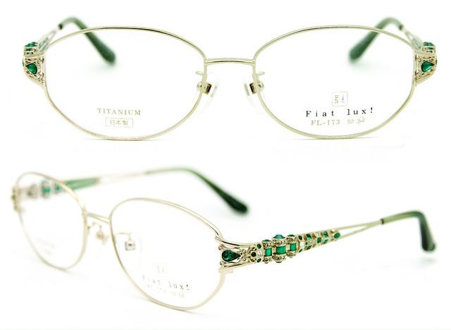 """Envío gratis Autho Original de la marca """" Fiat Lux """" con circón decoración llena de titanio gafas de diamantes mujeres de lujo de gafas"""