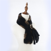 New Arrival Women Scarves Winter Knitted Real Mink Fur Scarf For Women Warm Winter Fur Scarves Wraps Mink