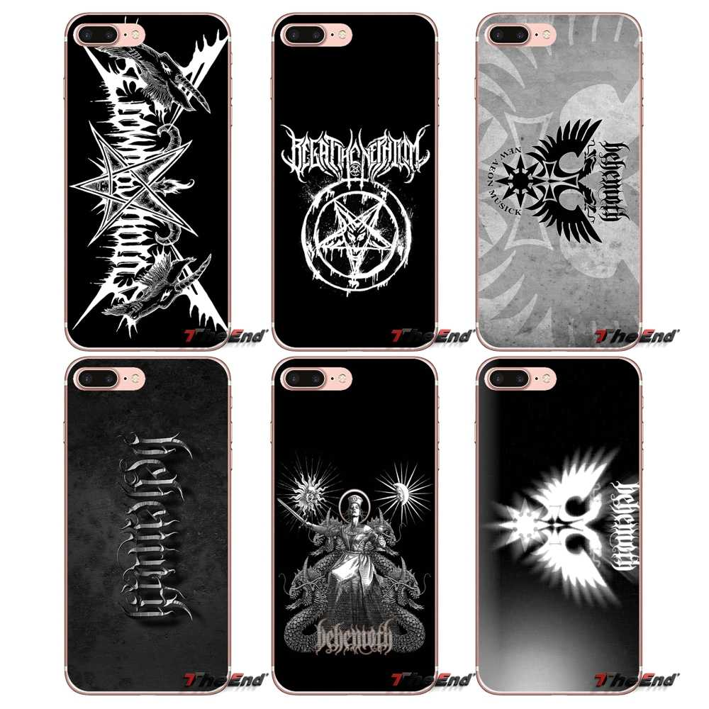 For iPhone X 4 4S 5 5S 5C SE 6 6S 7 8 Plus Samsung Galaxy J1 J3 J5 J7 A3 A5 2016 2017 BEHEMOTH DEATH METAL BAND Soft TPU Case