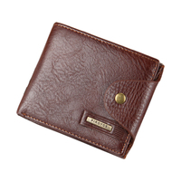 Hot Men Wallet Leather Quality Guarantee Short Purse With Coin Pocket Black Brown Wallets Zipper Bag
