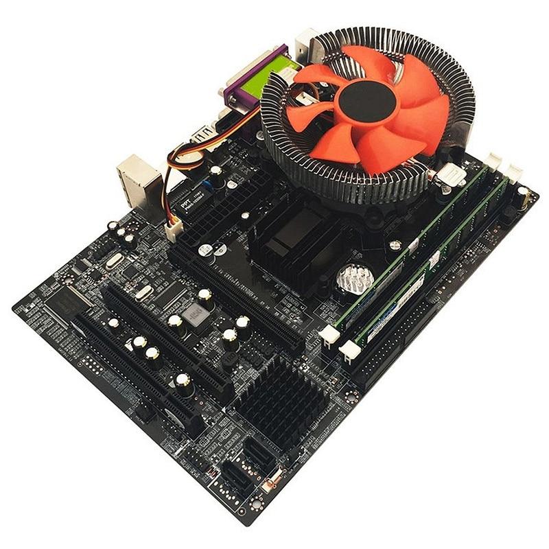 G41 Desktop Motherboard For Intel Cpu Set With Quad Core 2 66G Cpu E5430 4G Memory Fan Atx Computer Mainboard Assemble Set in Motherboards from Computer Office