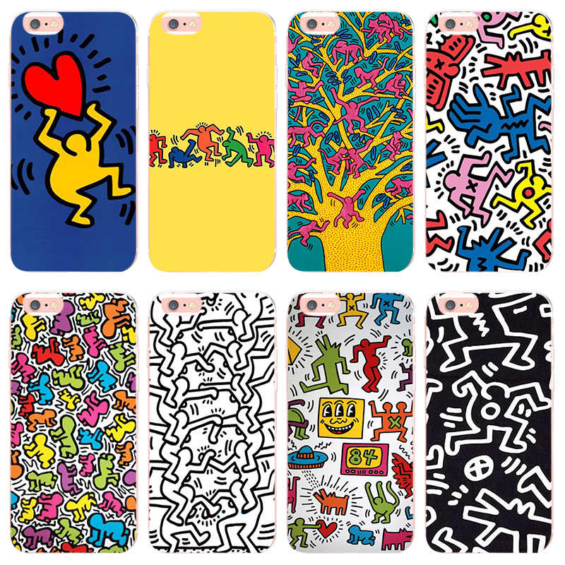Maiyaca Keith Haring Art For Iphone 7 7plus X Xs Xr Xsmax Coque Shell Case For Apple Iphone 5 5s Se 6s 6plus 8 8plus Phone Case