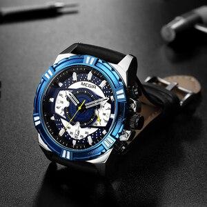 Image 5 - Megir marca de luxo relógio cronógrafo masculino relógios homem à prova dwaterproof água data esporte militar relógio quartzo masculino montre homme