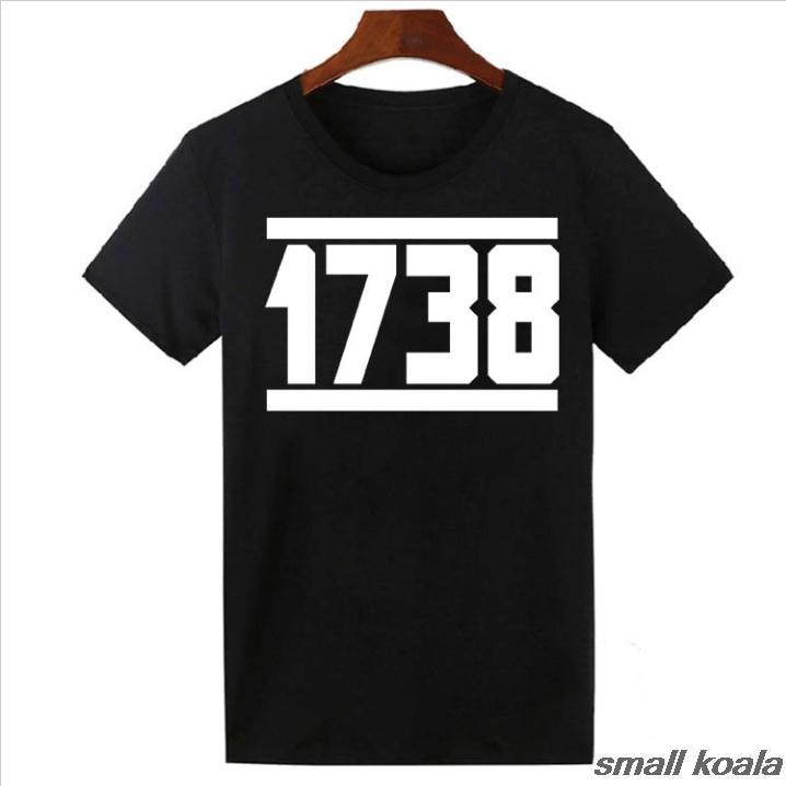 1738 Fetty Wap T Shirt Mens Remy Boyz Trap Queen Drake Drizzy Hip Hop Custom Cotton Short Slever T-Shirt Black - intl