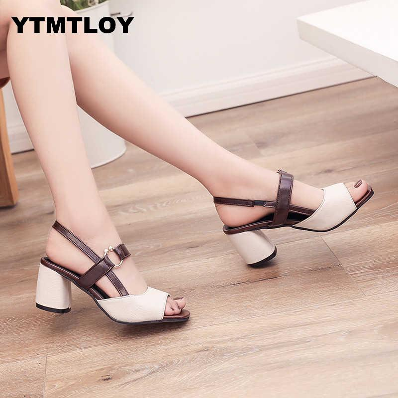 Women Pumps Fashion Gladiator Heels Shoes Woman Quality Lace Up High Hollow Sexy  Square Heel Peep Toe High Heels Sandals 2019