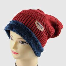Nova unisex chapéus de inverno dupla camada mais espessa cashmere malha  gorros caps moda skullies gorros das mulheres dos homens. ec445acab79