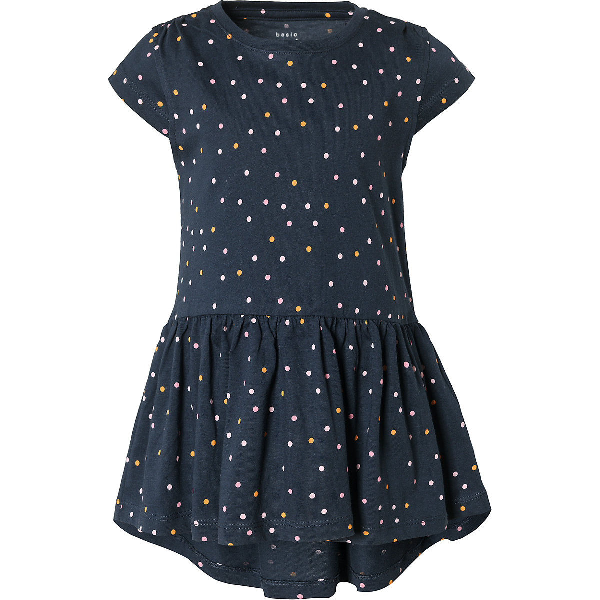 NAME IT Dresses 10626568 Dress girl children checkered pattern collar fitted silhouette sequins Cotton Casual Blue Short Sleeve stylish short sleeve sequin embellished star pattern dress for women