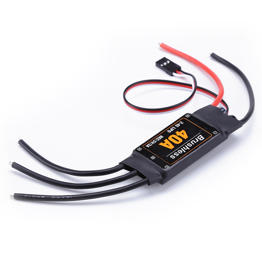 40A <font><b>Brushless</b></font> ESC <font><b>Drone</b></font> Airplanes Parts Components Accessories Speed Controller <font><b>Motor</b></font> RC Toys FPV Durable Quadcopter Helicopter image