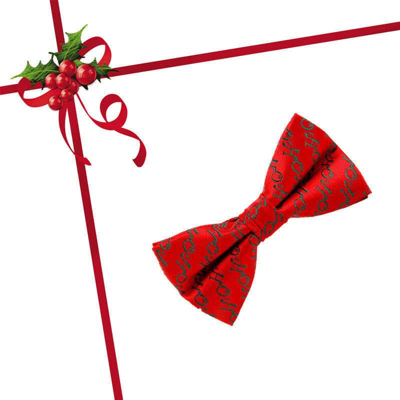 Recém Moda Formal Estilo 6 Homens Novidade Gravata borboleta Festivo da Festa de Natal Presente de Papai Noel Secreto Roupa Formal da Ocasião Um Tamanho