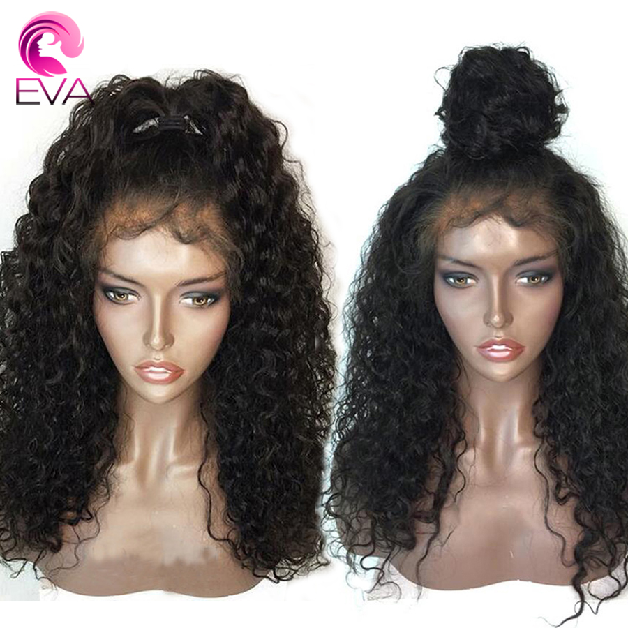 Eva 13x6 Lace Front Human Hair Wigs Pre Plucked With Baby Hair Curly Glueless Brazilian Remy Hair Lace Front Wig For Black Women