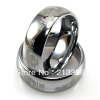 Free Shipping Wholesales Cheap Price Promotion Sales USA Hot Selling Men S Tungsten Domed Sharing Heart
