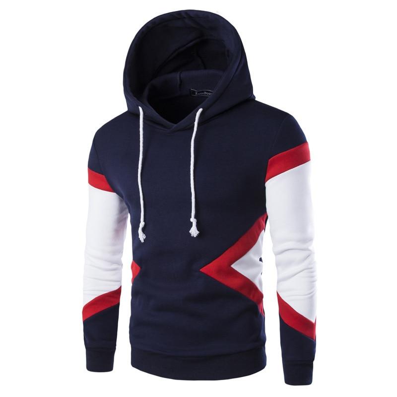 pullover hoodie sweatshirt men men's casual slim fit long sleeve hooded fashion mens hoodies