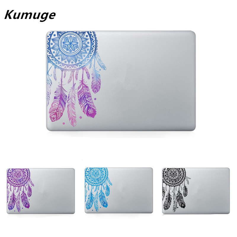 Corak Feather Bunga Vinyl Decal Sticker Komputer Riba Untuk Macbook Air Pro Retina 11 12 13 15 Kulit Laptop Ink Untuk Macbook Air 13