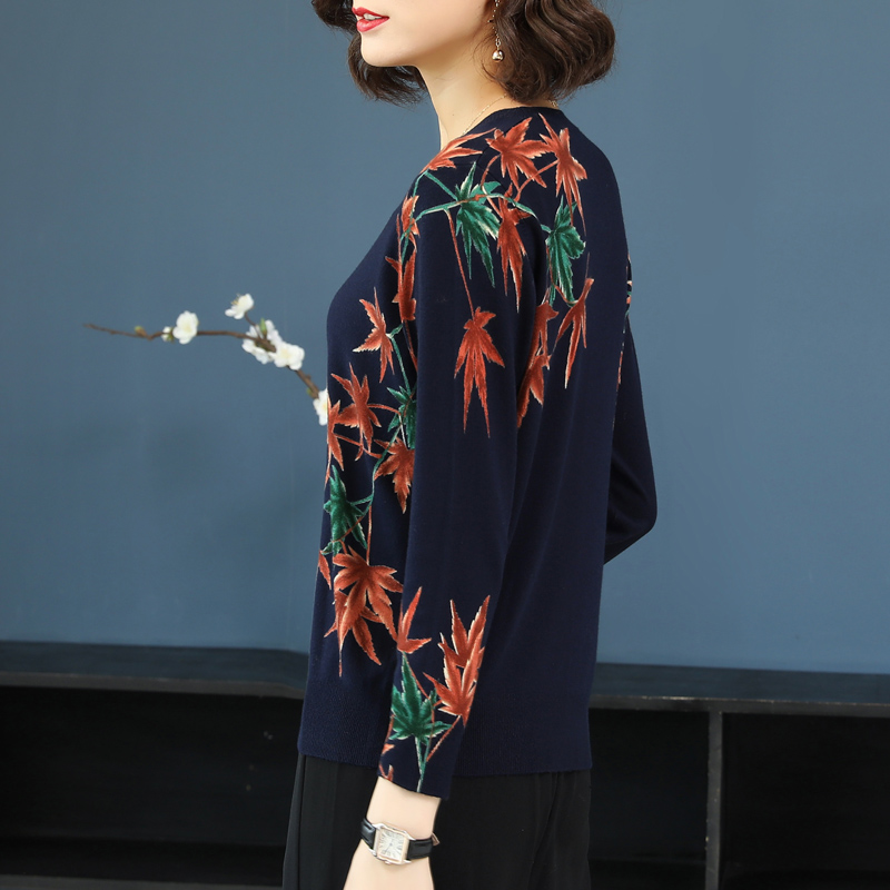 Maple Printed sweater Women casual 1
