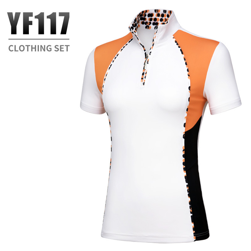 2018 PGM golf apparel Sports Suit for women Summer Breathable T-shirt short sleeves blouse Dot Slim skirt size XS-XL